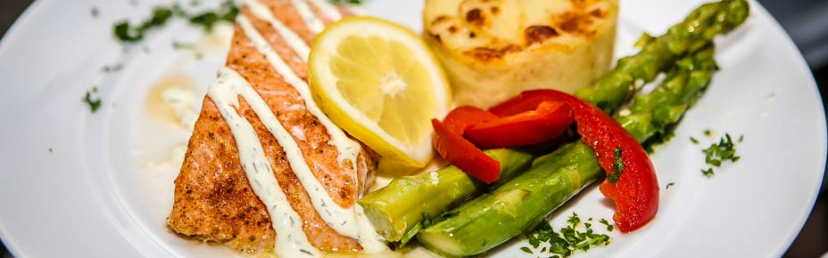 Faroe Island Salmon Filet with A Lemon Dill Crème Drizzle